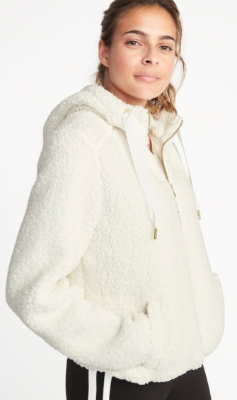 Quarter zip Sherpa Popover Hoodie by Old Navy